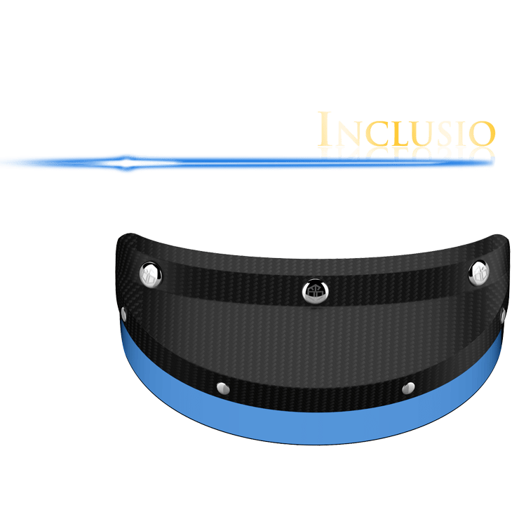 Inclusio glossy carbon & blue