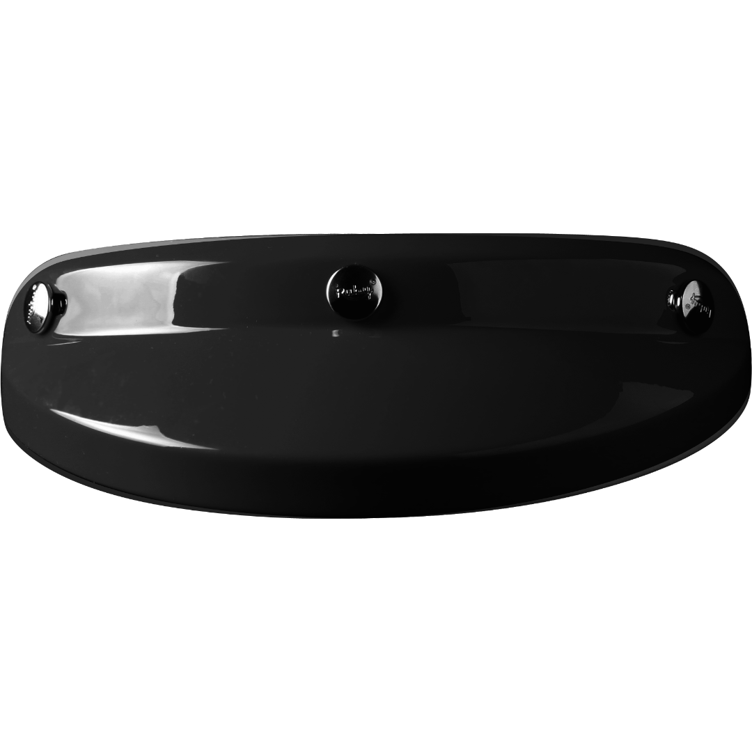Eclipse peak visor lacquered glossy black
